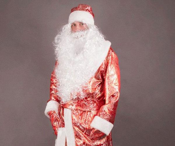 Золотой костюм Деда Мороза.