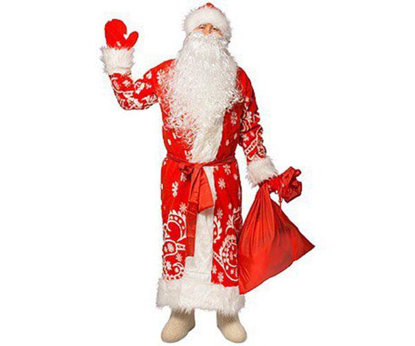 Меховой костюм Деда Мороза.