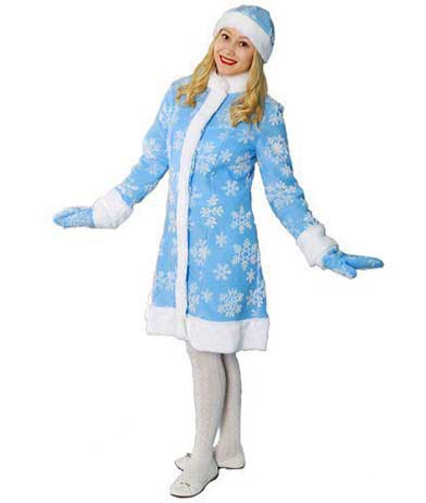 Голубая шубка Снегурочки.