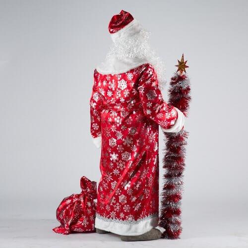 Шуба Деда Мороза вид сзади.