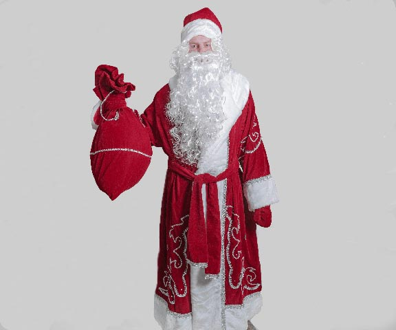 Традиционный костюм Деда Мороза.